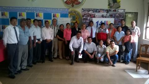 Mesa de Madre de Dios ratifica a coordinador regional y elige coordinadora alterna