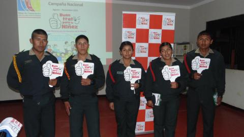 Campaña Buen Trato: Capacitan a cadetes de la PNP sobre derechos de la niñez