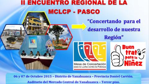 Pasco organiza el II Encuentro Regional de Mesas