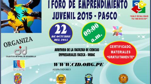 I Foro de emprendimiento  2015 - PASCO