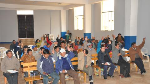 Conformación del Consejo Distrital de Desarrollo de Huancarani