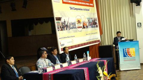 """Segundo Encuentro Regional de Mesas de Concertación """"Del Compromiso a la Acción"""", noviembre 2015 en la región de Apurímac"""