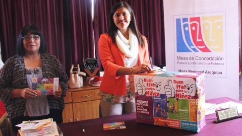 Gobernadora Regional de Arequipa se suma a la Campaña Buen Trato Para la Niñez