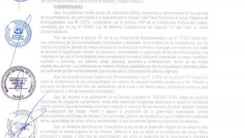 Campaña Buen Trato para la Niñez - Municipalidad Distrital de Yanacancha