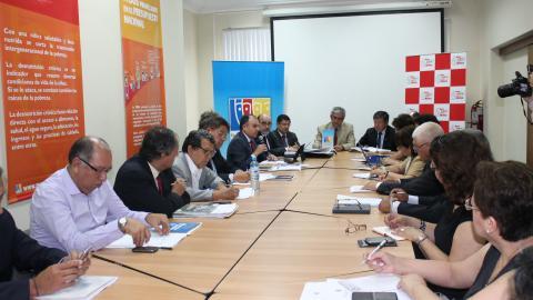Organizaciones de Estado y sociedad civil reafirman su compromiso con el diálogo a favor de la lucha contra la pobreza en el país