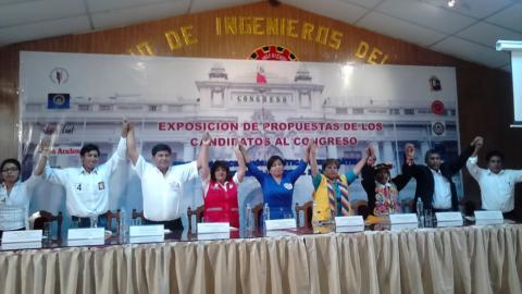 la MCLCP realizó su semana electoral con candidatos al Congreso