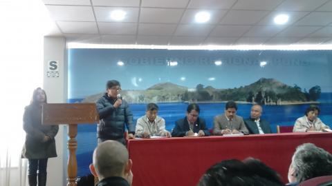 Lanzamiemto del Proyecto  de Desarrollo de Innnovaciones para la Seguridad Alimentaria y Nutricional en las zonas de Integración fronteriza Perú Bolivia 2016-2017