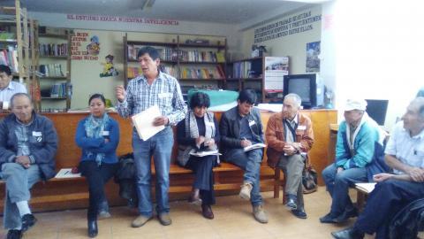 MCLCP-Apurímac y su aliado Aprodeh organizan reunión de coordinación y sensibilización para instalar un espacio de concertación en la provincia de Chincheros.