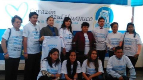 Corazón Azul: Campaña Contra la Trata de Personas