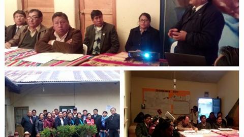 MCLCP de Azangaro conforma su grupo de seguimiento en anemia y mortalidad materna.