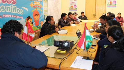 """MCLCP de la provincia de Azangaro participo de la Campaña Nacional de Vacunación """"Juntos por los Niños: Niño Vacunado, Futuro Asegurado"""""""