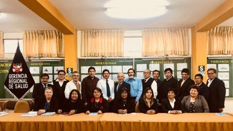 Sesión del Consejo Regional de Salud de Arequipa