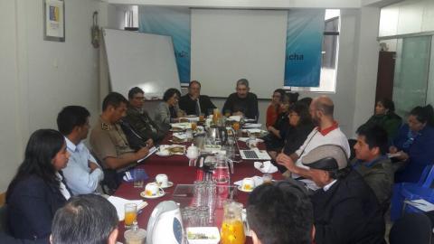 Reunión del Grupo de Cultura de Paz y Conflictos Sociales se propuso declarar de interés prioritario el ordenamiento territorial para reducir la conflictividad en Apurímac