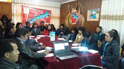 El CER de la MCLCP aprobó el informe del seguimiento del gasto público 2015-2017 de la Región Puno y logro compromiso institucional para la Campaña del Buen Inicio Año Escolar