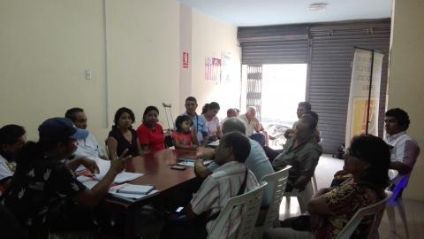 Reunión de Coordinaciones sobre avances en acciones de veeduría de las obras de reconstrucción.