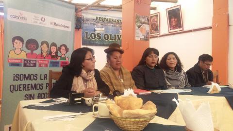 MCLCP participa en reunión con periodistas sobre acoso político
