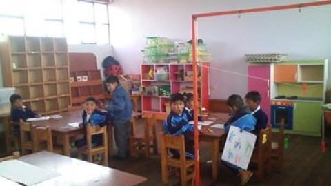MCLCP Puno realiza la veeduria en la I.E.I N° 334 del Centro Poblado Sacasco del distrito de Taraco de la provincia de Huancane