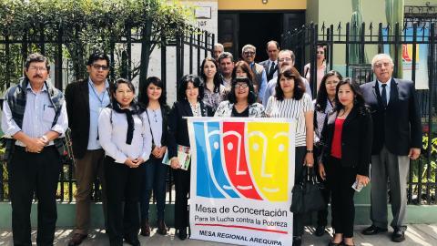 La Mesa de Concertación para la Lucha Contra la Pobreza cumple décimo séptimo aniversario de creación en Arequipa