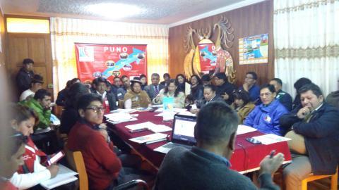 MCLCP Puno presentó documento preliminar del  Acuerdo de Gobernabilidad 2019-2022