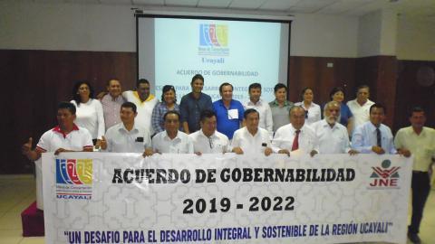 UCAYALI PRESENTA ACUERDOS SUSCRITOS POR CANDIDATOS AL GOBIERNO REGIONAL Y MUNICIPALIDAD PROVINCIAL DE CORONEL PORTILLO