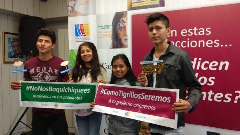 """UNICEF y las organizaciones de adolescentes de Loreto y Ucayali lanzaron la campaña """"En estas elecciones, ¿qué dicen las y los adolescentes?"""""""