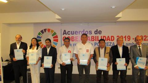 TODOS LOS CANDIDATOS AL GOBIERNO REGIONAL DE LAMBAYEQUE SUSCRIBIERON ACUERDO DE GOBERNABILIDAD 2019-2022