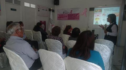"""Moquegua: Realizan reunión de sensibilización en la """"Semana Perú Contra el Cáncer"""""""