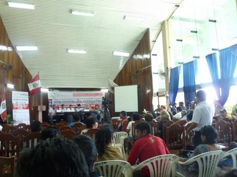 Mesa de Concertación para la Lucha Contra la Pobreza participa en reunión Descentralizada del Presupuesto Público 2016.