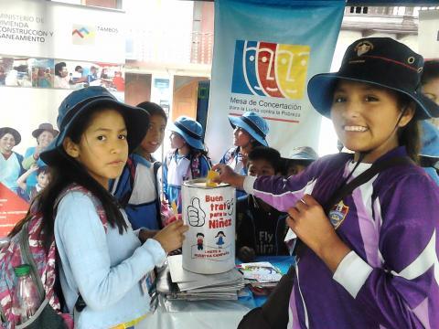 Promoviendo la campaña Buen Trato para la Niñez
