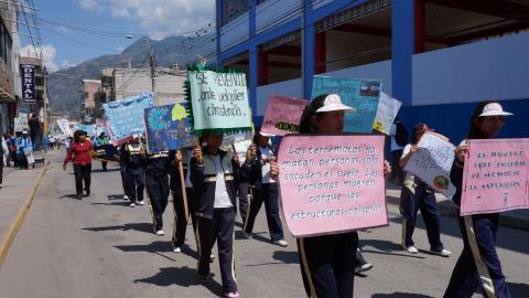 Marcha de Sensibilización por el día internacional de reducción de desastres