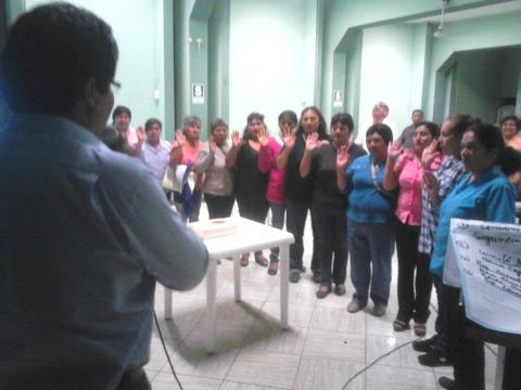 Reactivación de la MCLCP-Santiago en la provincia de Ica.