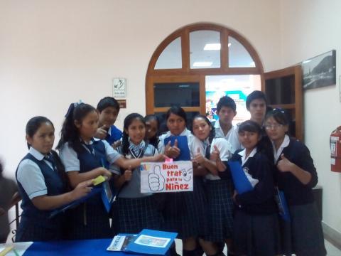 Autoridades y Líderes Jóvenes de la Región Huánuco se suman a la Campaña Buen Trato para la Niñez
