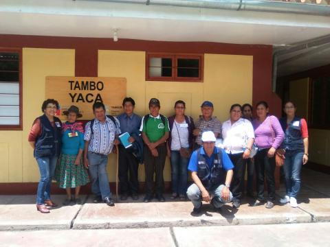 La MCLCP fortalece capacidades locales de concertación en el Taller de Capacitación Dirigido a Autoridades Comunales de los TAMBOS en Yaca