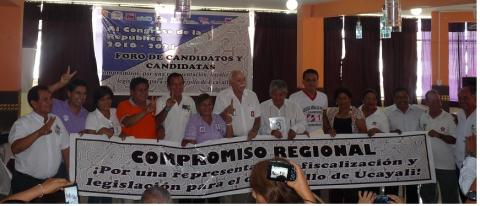 Acuerdos de Gobernabilidad por candidatas y candidatos al Congreso de la República 2016-2021
