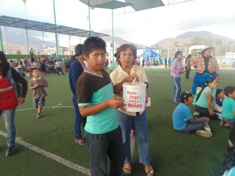 "campaña colectiva ""Vota por la Niñez"""