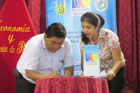 Acuerdo de Gobernabilidad de Acción Parlamentaria Conjunta por el Desarrollo Humano Integral de la Región Moquegua.