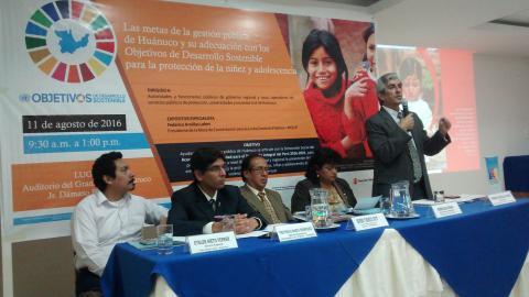 Autoridades y funcionarios de Huánuco orientados para priorizar la protección de la niñez y adolescencia frente a la violencia