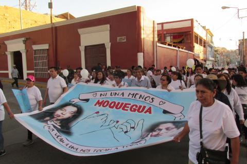 En Moquegua todos contra la violencia hacia la mujer