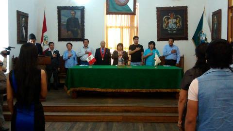 Juramentación del Consejo Regional de la Juventud de Huánuco.