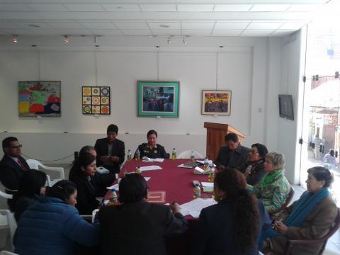 La mesa provincial de la No violencia contra la mujer realizó una reunión para programar acciones