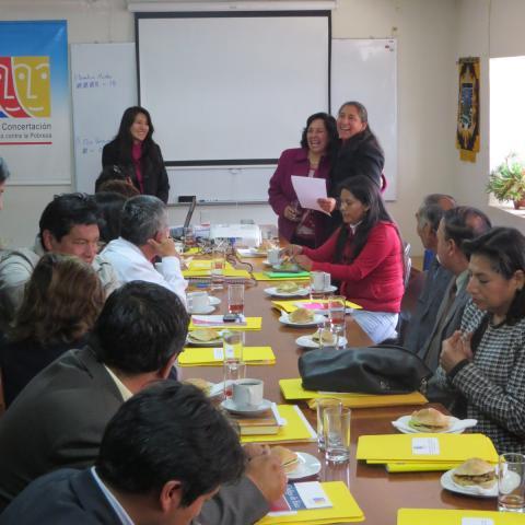 Reunión del Comité Ejecutivo Regional de la MCLCP Huancavelica