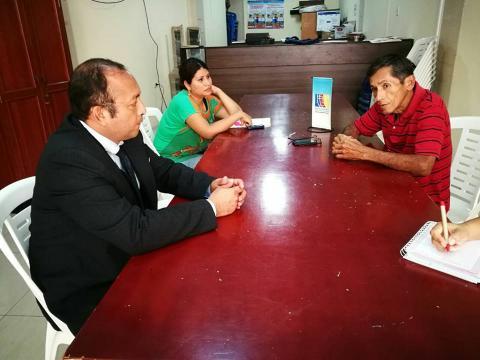 Reunión de coordinaciones con congresista de la República para el abordaje de la problemática de la contaminación del río Tumbes