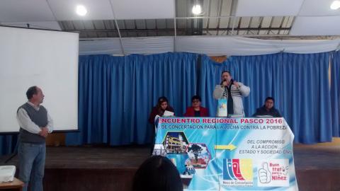 Encuentro Regional 2016 de la Mesa de Concertación para la Lucha Contra la Pobreza - Pasco