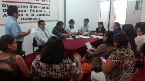 I Reunión técnica y de sensibilización con operadores públicos de Huánuco para el Registro de Víctimas de Esterilizaciones Forzadas (REVIESFO)