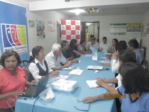 Reunión del Comité Ejecutivo Regional de la Mesa de Concertación Para la Lucha Contra la Pobreza de Ica.