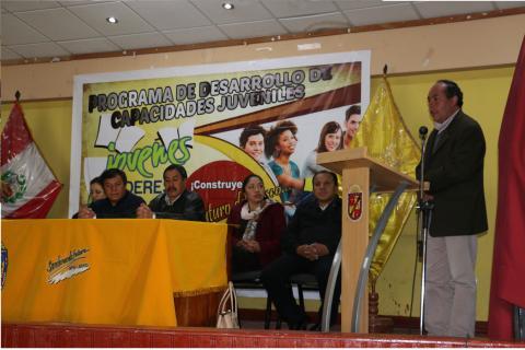 """Programa de Desarrollo de Capacidades Juveniles """"Construyendo Gobernabilidad Democrática para la Gestión Pública en la Región Pasco"""" - Primer Módulo"""