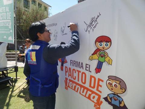 MCLCP Cusco,  se suma a la Campaña por el Buen Trato a la Niñez impulsada por World Visión Perú