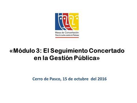 """Programa de Desarrollo de Capacidades Juveniles """"Construyendo Gobernabilidad Democrática para la Gestión Pública en la Región Pasco"""" - Tercer Módulo"""