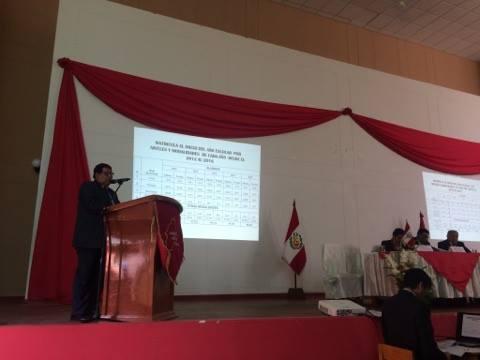 Rendición de cuentas del año fiscal 2016 - Gobierno regional de Moquegua