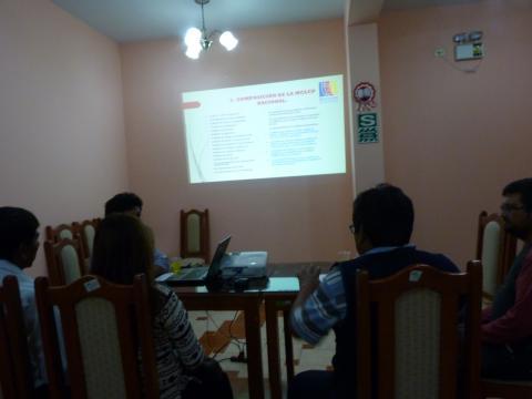 Fortalecimiento de capacidades en la Mesa Provincial de Jorge Basadre